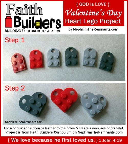 Faith Builders Heart Lego Project – Day 2